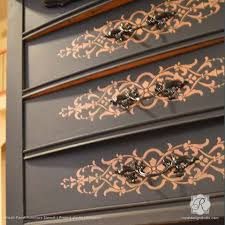 image stencils furniture painting. decorating diy projects with painted pattern micah panel furniture stencils royal design studio image painting n