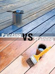painting vs staining a deck the better finish for your structure