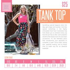 Jade Lularoe Size Chart Introducing The New Lularoe Tank Top Lularoe Tank Top