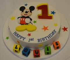 Mickey Mouse Birthday Cake Ideas Mickey Mouse 1st Birthday Cake