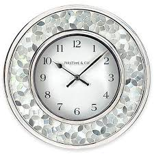 wall clocks decorative in all styles bed bath beyond kitchen and