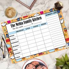 Personalised Meal Planner Busy Baby Magnum