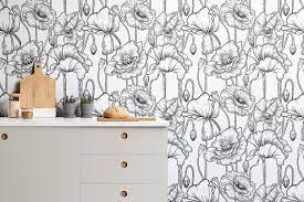 Black & White Illustrated Flowers ...