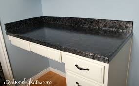 simple diy faux granite for kitchen and bathroom countertop ideas