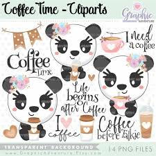 See more ideas about coffee art, coffee lover, coffee latte art. Coffee Clipart Coffee Graphics Panda Clipart Commercial Etsy In 2020 Coffee Graphics Clip Art Coffee Clipart