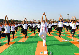 dehradun prime minister narendra modi practices yoga asanas postures on fourth international yoga day at the forest research insute in dehradun