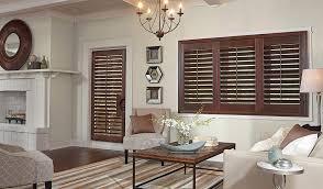 brown door shutters living room