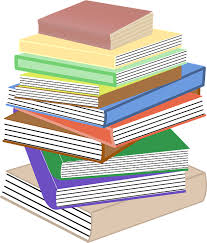 books stacked pile stacks textbooks education public domain clker free vector images