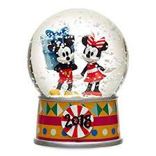 <b>Disney</b> Mickey Mouse and <b>Minnie</b> Mouse Holiday Snowglobe <b>2018</b>