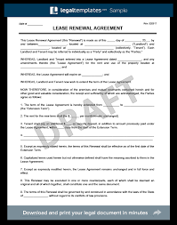 Lease Renewal Letter To Tenant Template Create A Free Lease Renewal Download Print Legal Templates