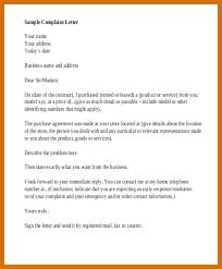 Formal Letters Of Complaint Formal Letter Complaint Sample Formal Letter Outline Grand Notice