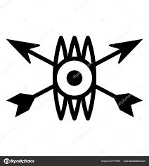 Indiánské Znamení Kmenový Symbol Stock Vektor Prosymbols 227775396