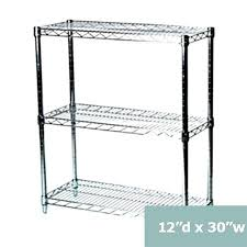 6 inch deep wire shelving beautiful three tier racks inches shelf