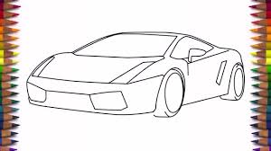 car drawing easy step by step. Unique Easy How To Draw A Car Lamborghini Gallardo Easy Step By For Kids And  Beginners  YouTube To Car Drawing Easy Step By