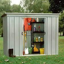 4 yardmaster metal apex garden storage