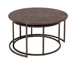 ... Coffee Tables, Enchanting Brown Round Classic Wood Nesting Coffee Tables  Design Ideas To Setup Living ...
