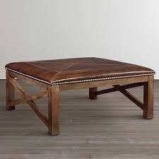 Large Round Ottoman Coffee Table | Rectangular Leather Ottoman | Square  Cocktail Ottoman