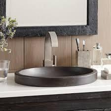 bathroom sink. Tolosa NativeStone Bathroom Sink In Slate