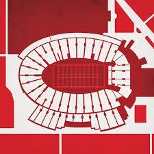 Camp Randall Stadium Map Art