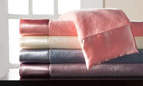 microfleece sheet set. Beautiful Set SatinTrimmed Microfleece Sheet Sets  On Set R