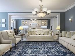 kas rugs bob mackie home vintage azure blue rectangular area rug