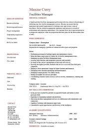Property Manager Job Description Samples Facilities Manager Resume Property Maintenance Job