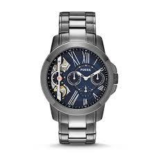 grant twist multifunction smoke stainless steel watch fossil grant twist multifunction smoke stainless steel watch