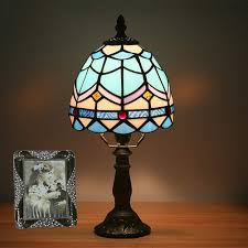 Mini Vintage Style Table Lamp Tiffany Style Bedside Lamp Glass