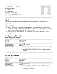 Sample Resume For Fresh Graduate Physiotherapy New Examples Resumes