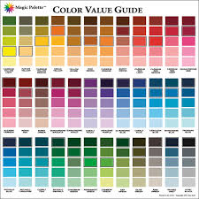 Artist Color Mixing Chart Magic Palette Artists Color Value Guide