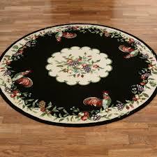 sonoma rooster round rug 76 round