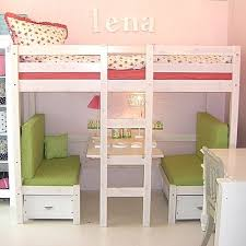 loft beds for girls. loft bed with booth underneath that also turns into a bed! beds for girls