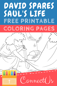 David y goliat titeres 4. Free David Spares Saul Coloring Pages For Kids Connectus