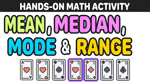 Mean Median And Mode Activity With Playing Cards