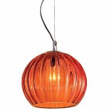 murano glass orange pendant light