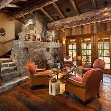 old west inspired luxury rustic log cabin in big sky montana rustic log cabin interiors