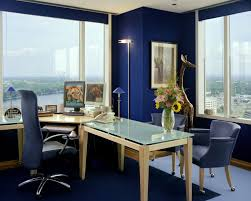 cool home office spaces. Admirable Small Home Office Design With Blue Color Themed Cool Spaces