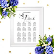 Rehearsal Dinner Seating Chart Ideas Wedding Seating Chart Poster Printable Welcome Wedding
