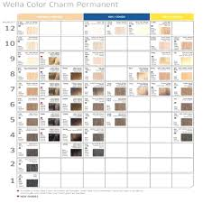 Wella Color Charm Chart Sally S Credible Wella Toner Colors Colour Touch Chart Wella Color
