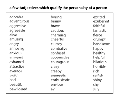 Resume Adjectives Free Resume Example And Writing Download