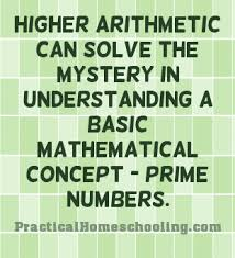 Using Higher Math To Teach Arithmetic Prime Numbers