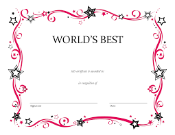 Free Printable Blank Award Certificate Templates Chainimage