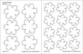 Flower Shapes Free Printable Templates Coloring Pages