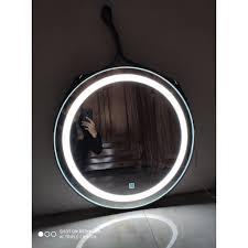 Gương Tròn Đèn LED 3 MÀU ✨Dk 50cm✨ Siêu Sáng Dây Da Treo Tường Cao Cấp, Giá  tháng 10/2020