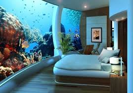 Charming Giant Tank Wall Bedroom