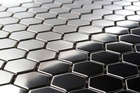 hexagon metal 1 mosaic stainless steel tile