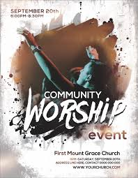 flyer for an event free church flyers promote your church event ministry voice