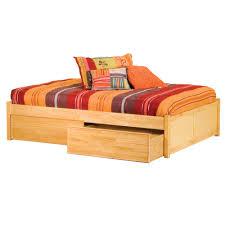 bedroom  spacious twin platform bedroom design with dark wood