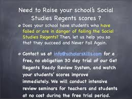Get Regents Ready Let Us Help Your Students Succeed