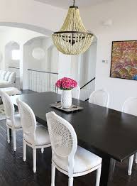 painted caneback chairs with nailhead trim dining rooms entrancing wicker back dining room chairs design inspiration